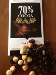 70 % choklad nötter russin