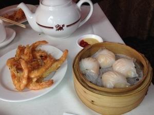 Räkfyllda dumplings