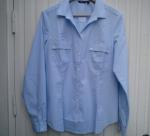 Blå skjorta stl 44