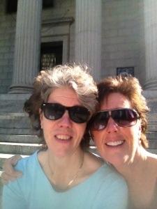Jag och min goa syrra i New York i oktober
