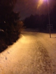 Springväg på kvällen