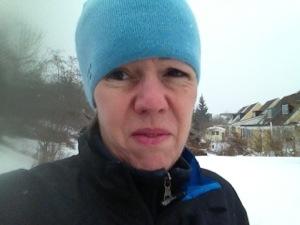Löpning i snöyra