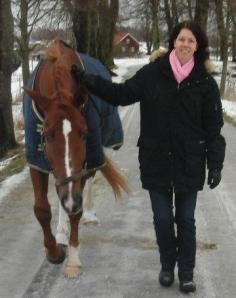"""Vinterpromenad med min """"lilla"""" häst 2012"""