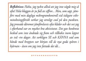 """Ur min bok """"Hur jag besegrade mina Hjärnspöken"""". Från Dag 24."""