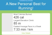 5.60 km rätt snabbt - stolt!