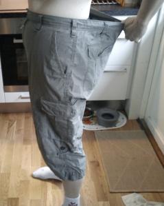 Efter 15 veckor med Itrim hösten 2011 är 2XL-shortsen lite stora