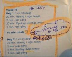 """Idag la jag in ett extrapass med """"Snabba 30 minuter"""" inför Vårruset."""