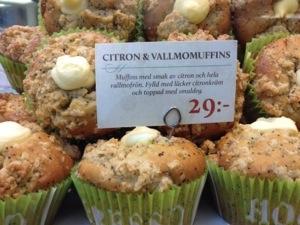 Citron och vallmomuffins