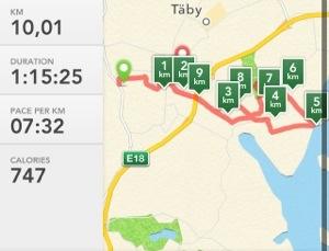 En hel mil!! 10 km!!