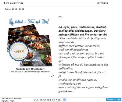 Itrims nya kokbok kommer 10 oktober