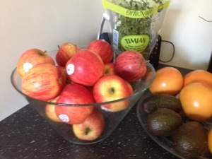 Goda ekologiska äpplen